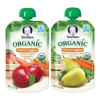 Gerber Organic 2nd Foods Pouches 2 Flavors
