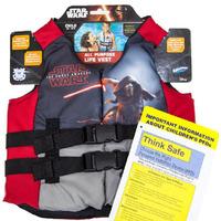 SwimWays Star Wars Child Size Life Jacket Safety Alert